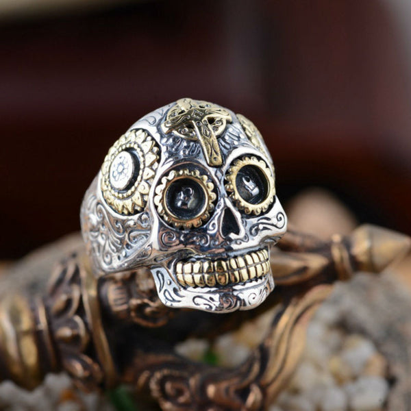 Pure 925 Sterling Silver Vintage Skull Rings - Concrete N Jungle