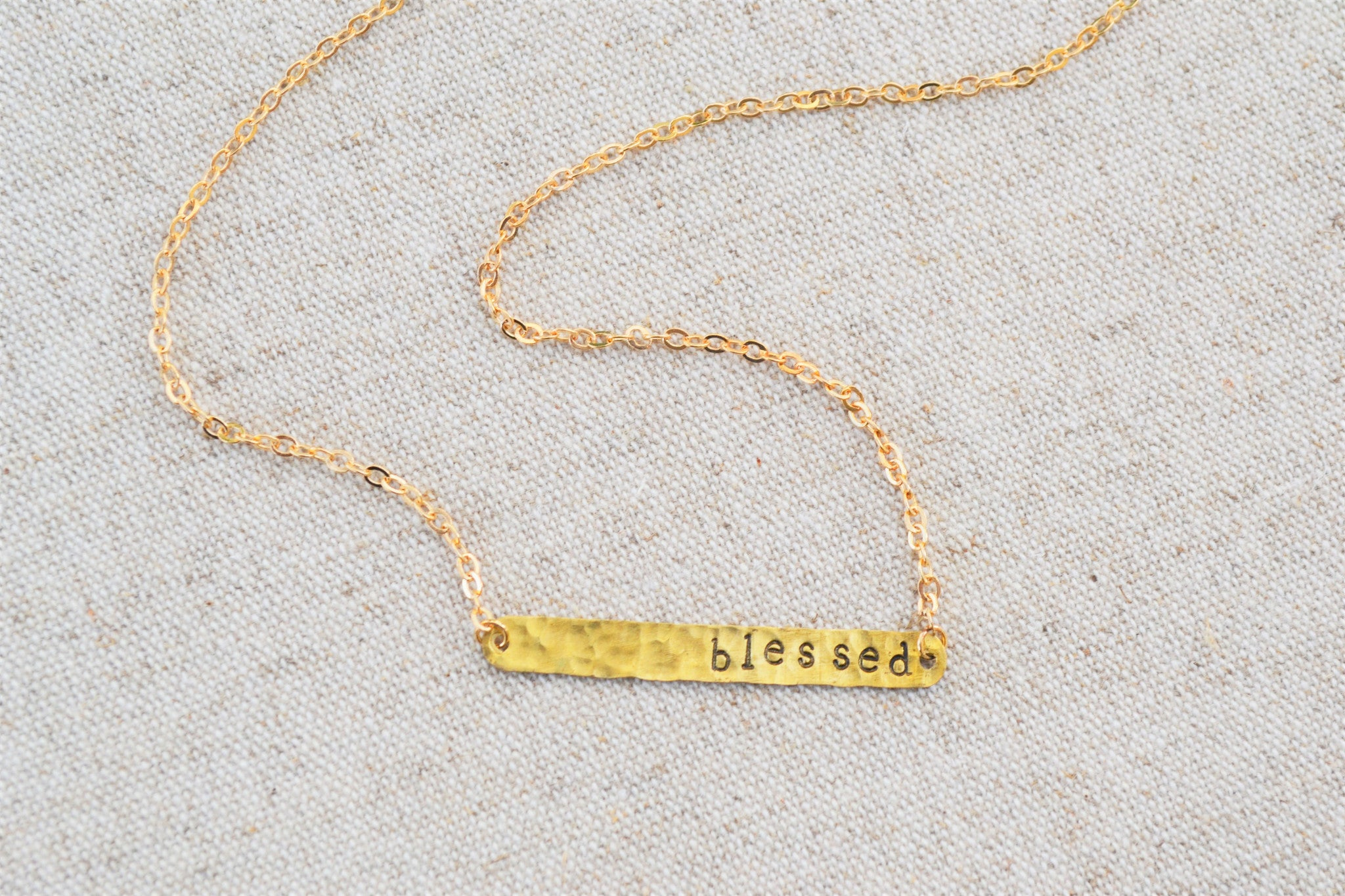 Custom necklace, personalized necklace, stamped necklace, stamped jewelry, gold necklace