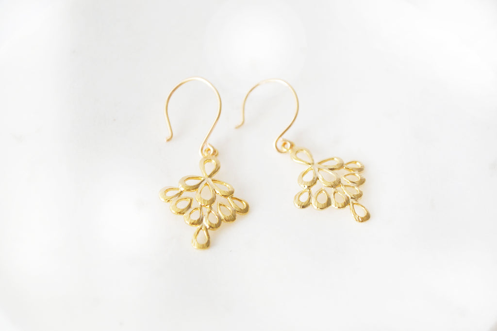 Dainty Gold Drop Earrings