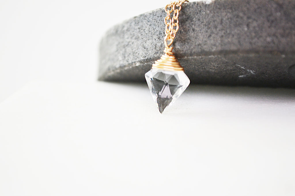 Briolette Quartz Necklace