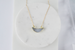 Druzy Crescent Moon Necklace