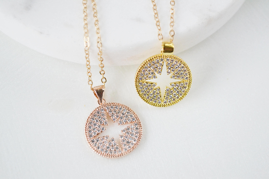 Crystal Pave Star Necklace