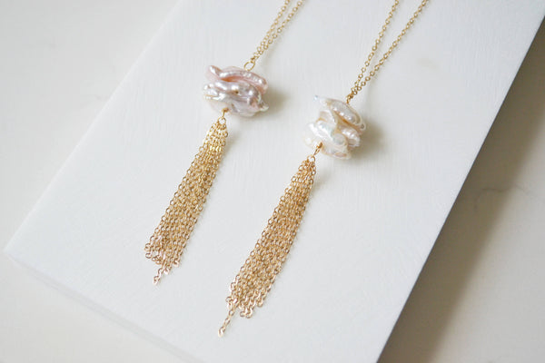 Tassel & Pearls Necklace