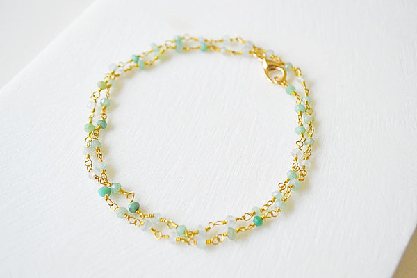 Gemstone Chrysoprase Necklace