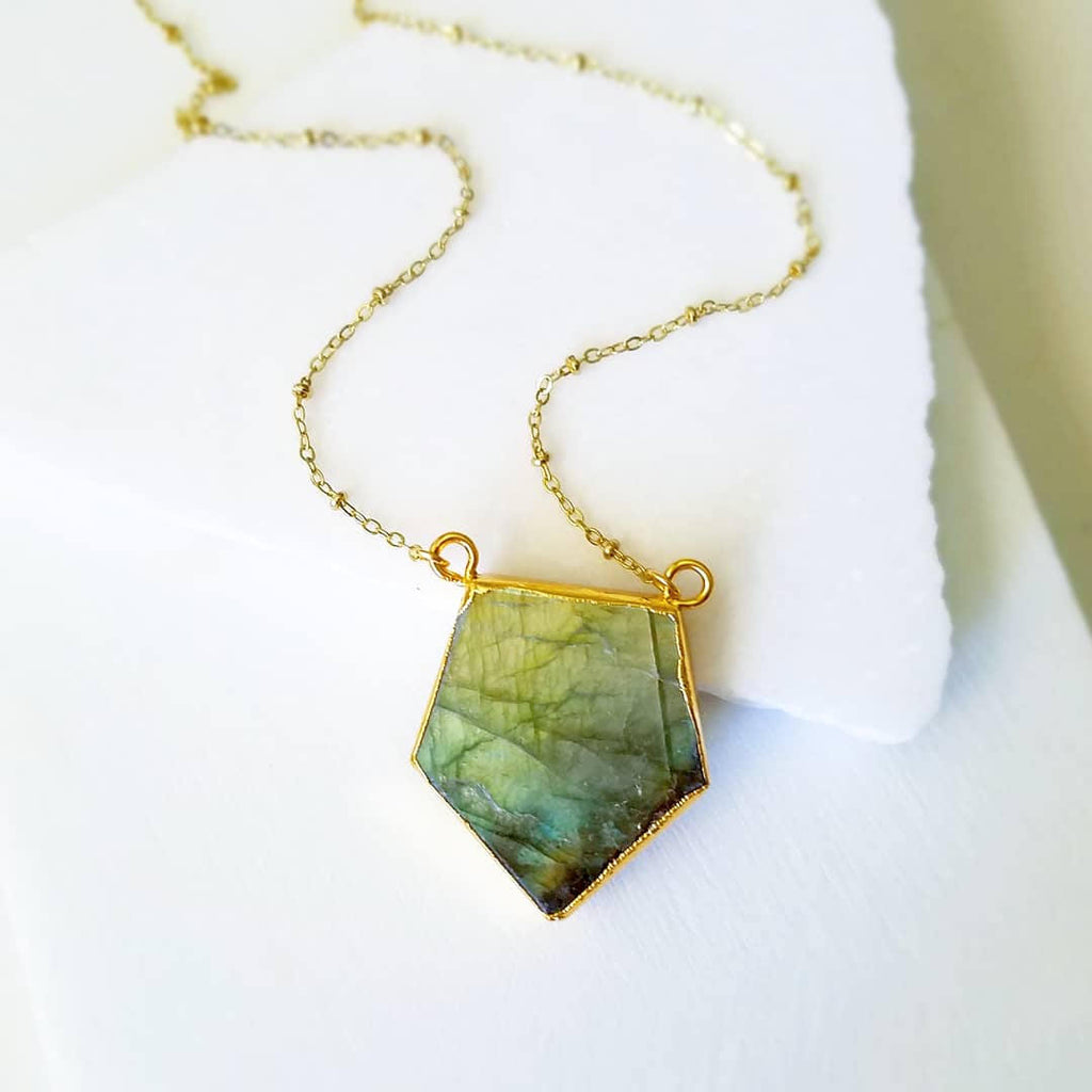 Geometric Labradorite Necklace