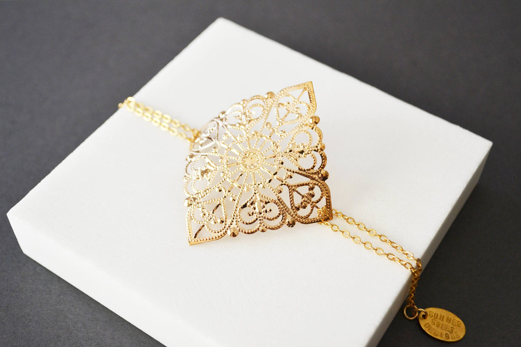 Filigree Gold Bracelet