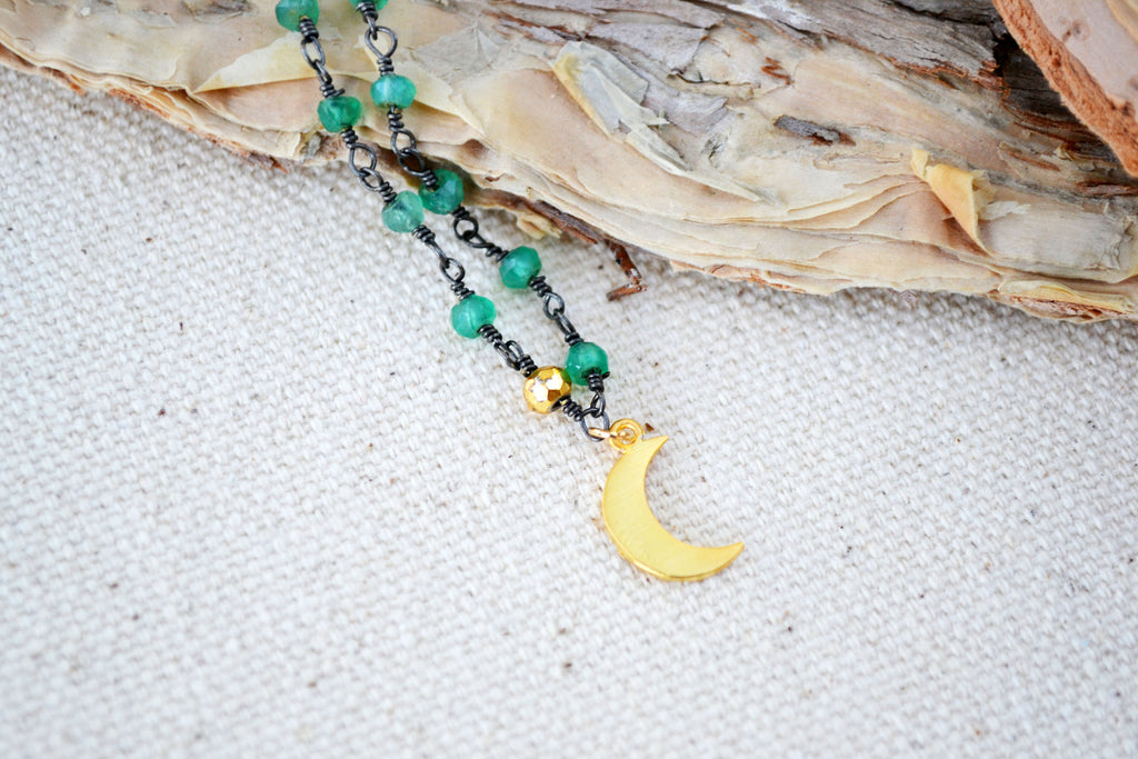 Tiny Crescent Necklace