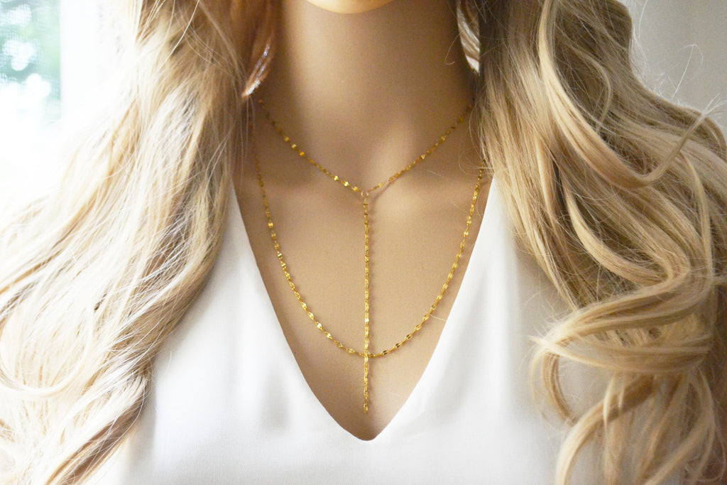 Multi Layer Lariat Necklace