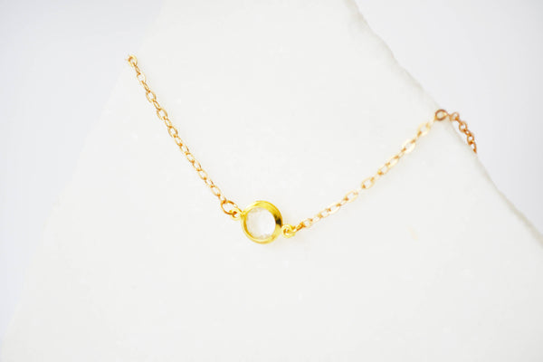 Dainty Solitaire Necklace