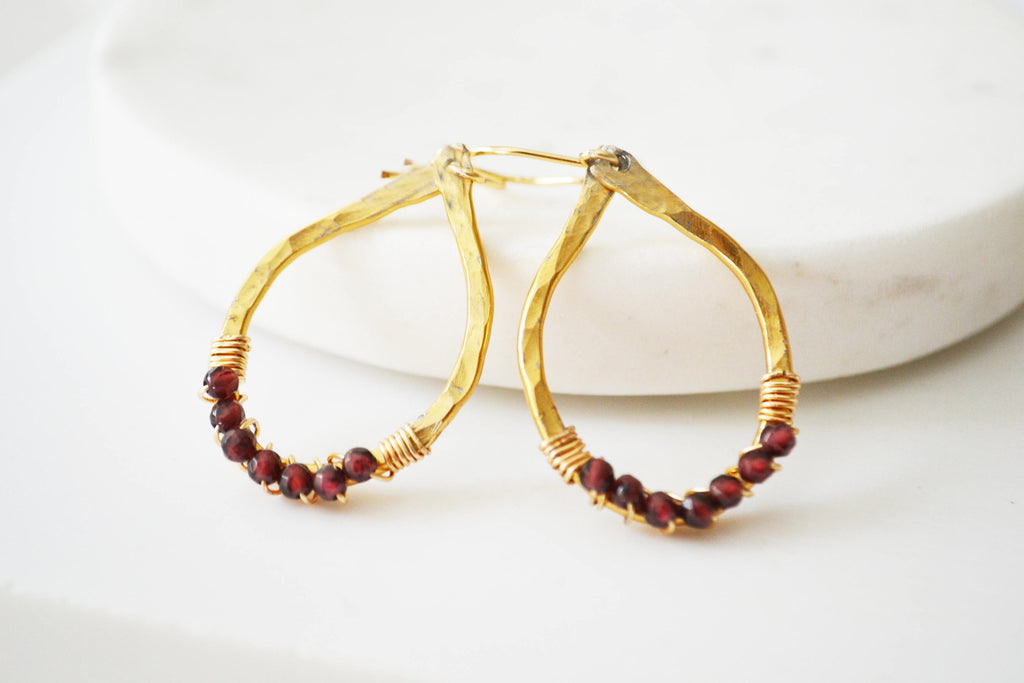 Crystal Wrapped Hoop Earrings