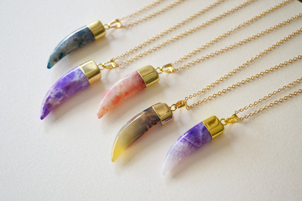 Tusk Agate Necklace