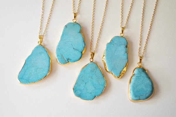 Turquoise Agate Necklace