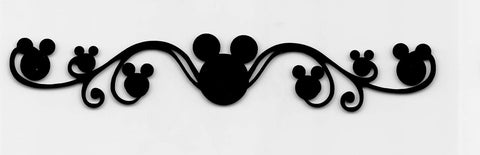 Mickey Head Swirl Strip Horizontal