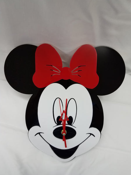 Minnie Mouse Acrylic Wall Clock