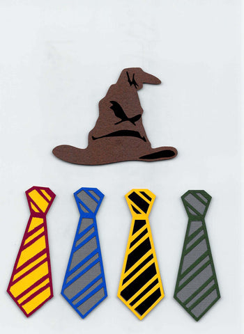Harry Potter Sorting Hat & House Ties