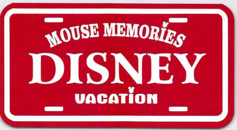 Mouse Memories License Plate