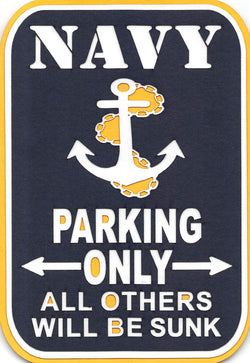 Navy Parking Only