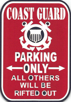Coast Guard Parking Only