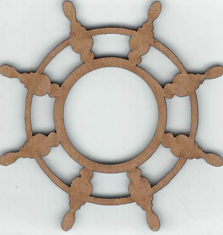 Ships Wheel - Chipboard