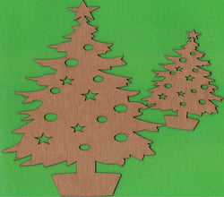 Christmas Tree Chipboard Set