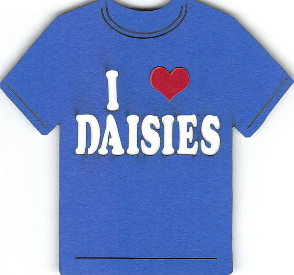 I Love Daisies T-Shirt Girl Scout