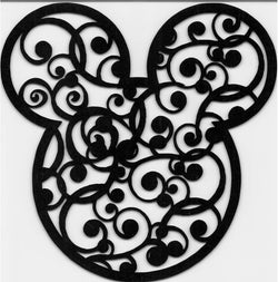 Mickey Head with Flourish