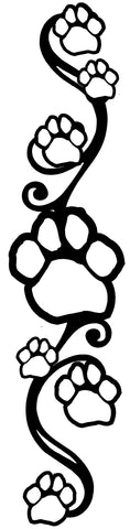 Swirly Paw Print Strip