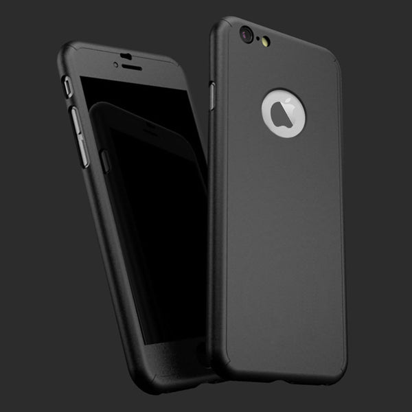 Full 360 Shockproof Case Tempered Glass Cover