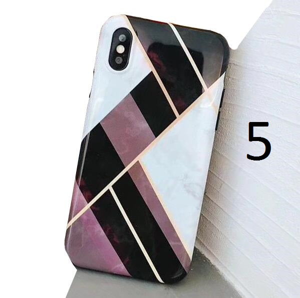 Colorful Geometry Marble Case