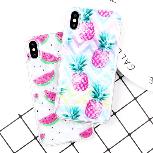 Cute Watermelon & Pineapple Case