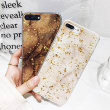 Platinum Marble Case with Glitter