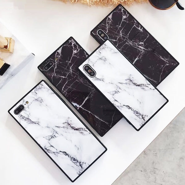 best website d3bc7 362b2 Luxury Square Marble Case