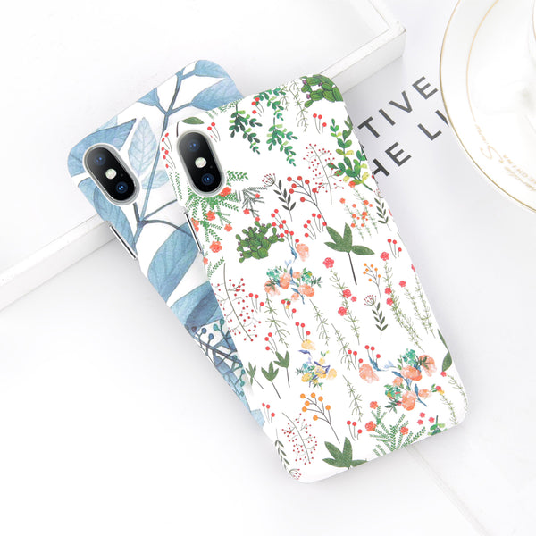 Green Floral Leaves Case