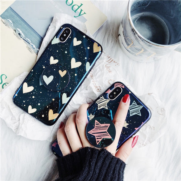 premium selection c50cb 39031 Stars & Hearts Case With PopSocket