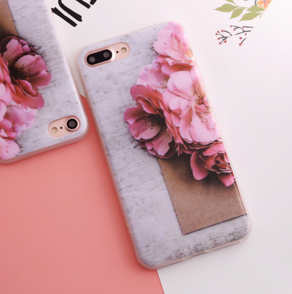 New Arrival Soft Flower Case