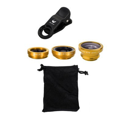 Old Shark 3-in-1 Phone Lens Kit  -  GOLDEN