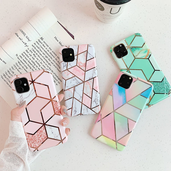 Plating Marble Geometric Case