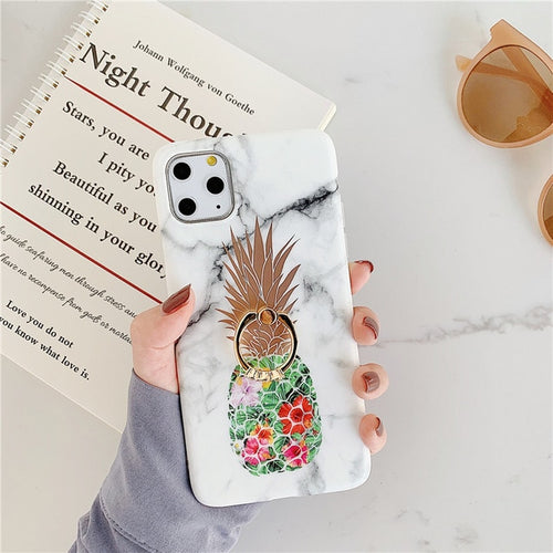 Golden Pineapple Marble Case