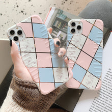 Geometric Stripe Marble Case ( Shockproof )