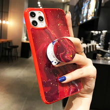 Vintage Foil Marble Case with PopSocket