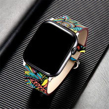 Apple Watch Band - Flower Leather Strap