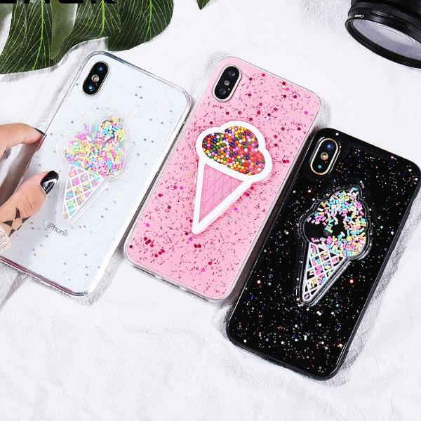 Liquid Glitter Ice Cream Case