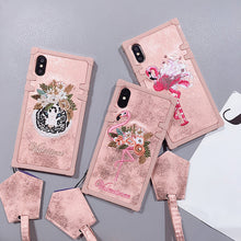 Embroidery Flamingo Square Case