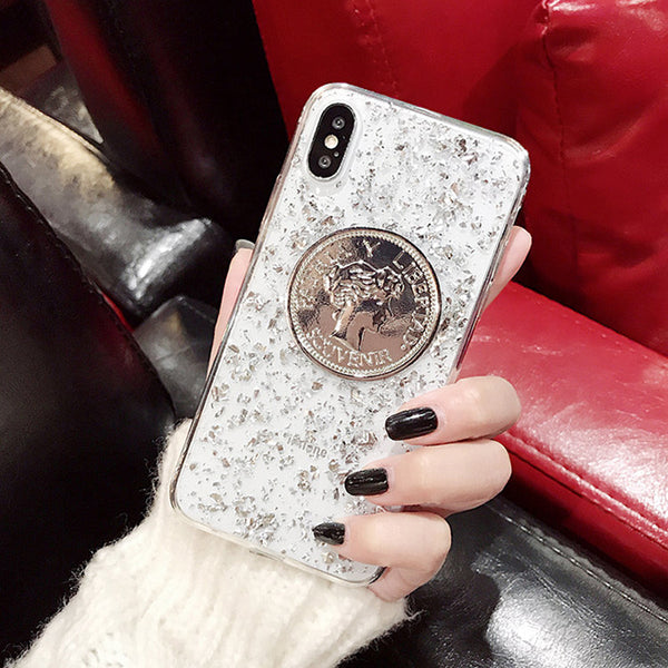 Crystal Coin Glitter Case
