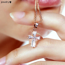 Cross Pendant Zirconia Necklaces
