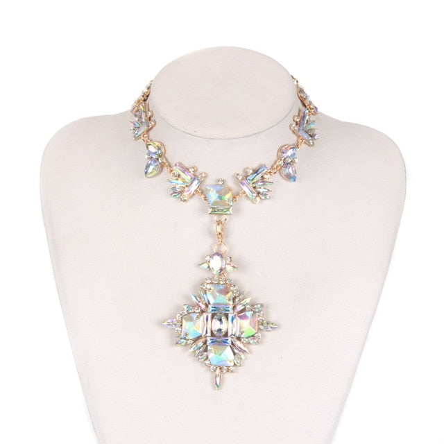 Geometric Crystal Boho Necklace