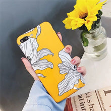 Glossy Yellow Floral Case