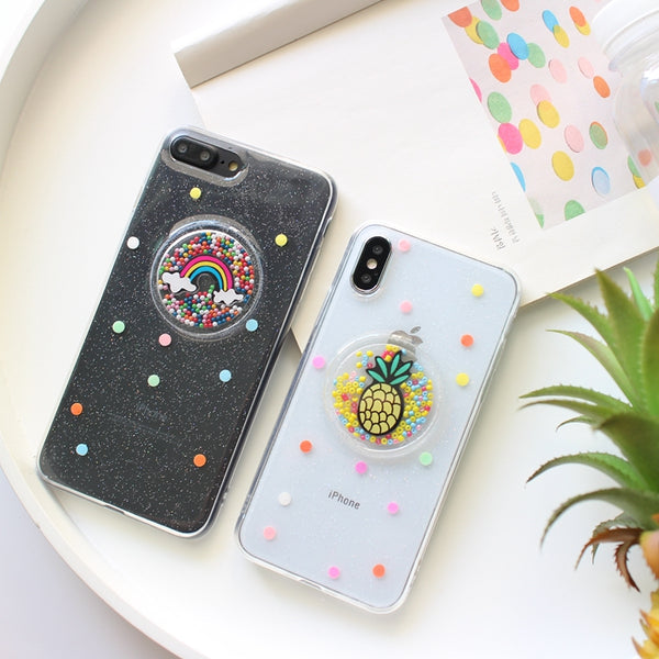 Colorful Liquid Pineapple Rainbow Case