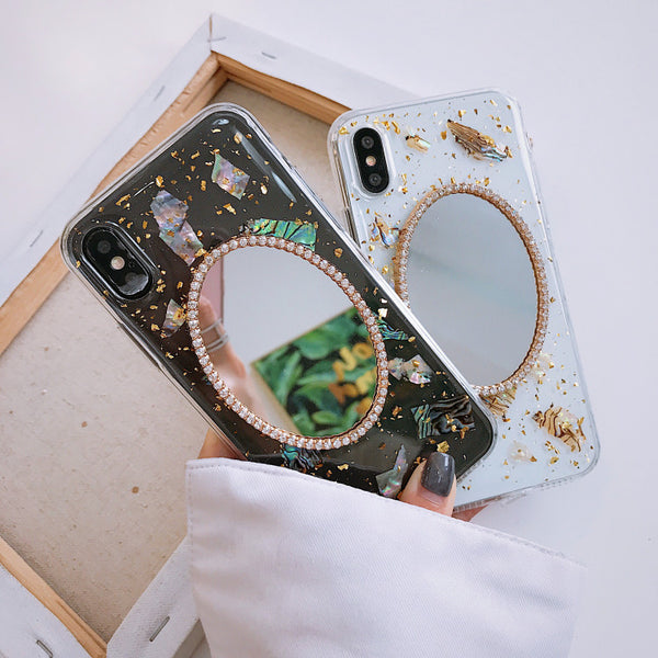 Fashion Gold Foil Mirror Case