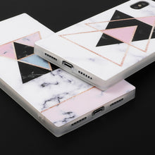 Square Geometric Marble Case